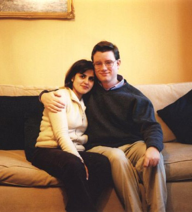 Ladan and James, Newcastle, March 2003