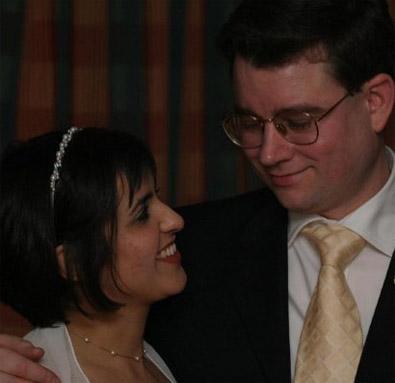 Ladan and James, wedding, April 2004