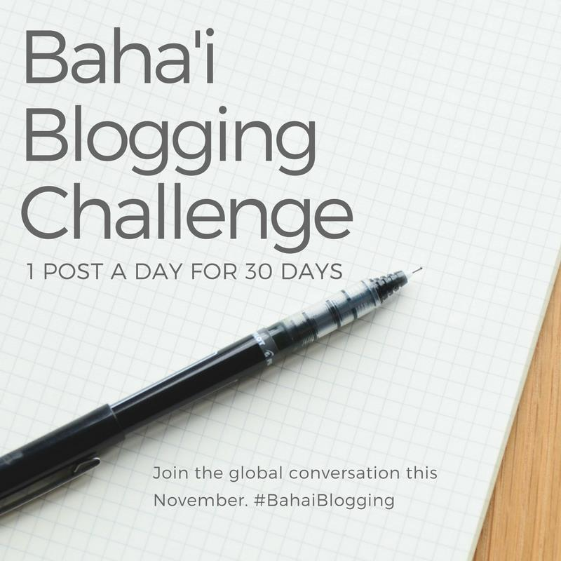 Bahá'í Blogging Challenge Advert
